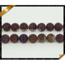 Vente en gros de titane en carton véritable perles de pierres Druzy (YAD038)