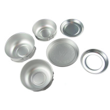 Senderismo Camping de aluminio Set de utensilios de cocina (CL2C-DT1412-6)