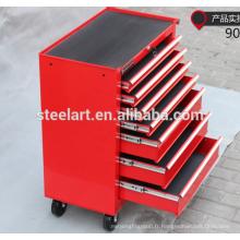 Atelier meuble de rangement mobile en métal à 7 tiroirs