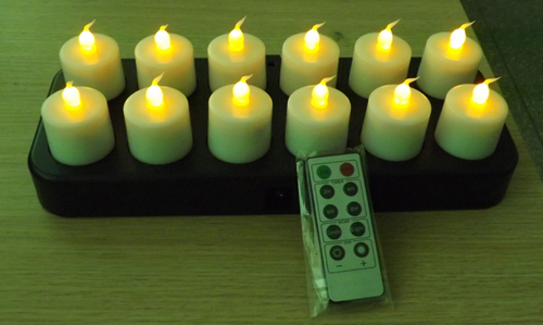 rechargeable tealight candle