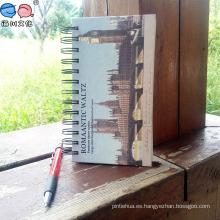 Cubierta del edificio de la escuela espiral de suministro de cuaderno por la fábrica (Bx0203)