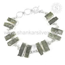 Bracelet en pierres précieuses en kyanite à la main Bijoux en argent sterling à la main 925 à la main Bijouterie en ligne indienne