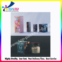 2016 Newest Cardboard Made Folding Candle Box with PVC Window