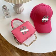 Fashion trendy ladies hats matching mini purse women bucket hats with matching purse