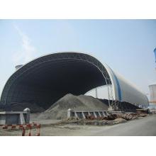 Рамки космоса стальной структуры угольном сарае, Проектирование и строительство