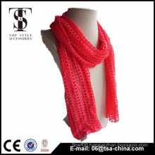 Fashion scarf polyester solid color viscose blending scarf