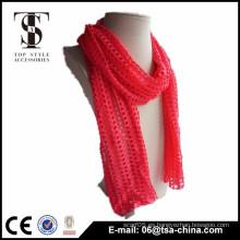 Bufanda de mezcla de viscosa de color sólido de poliéster bufanda de moda