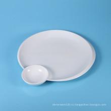 Керамическая суши-плита, сервировочная тарелка с соусом