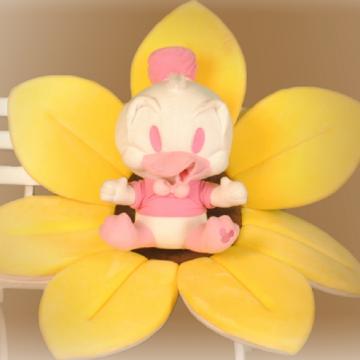 Juguete de terciopelo rosa Pato Donald