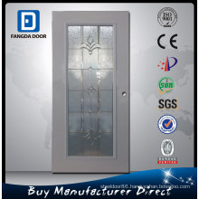 Frosted Tempered Glass Inserted Waterproof Bathroom Door