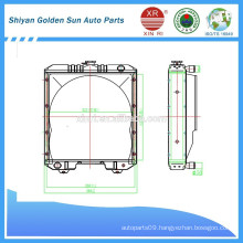 Myanmar copper radiator from Shiyan manufacture in China.