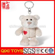 Urso pelúcia pouco animais chaveiro brinquedo