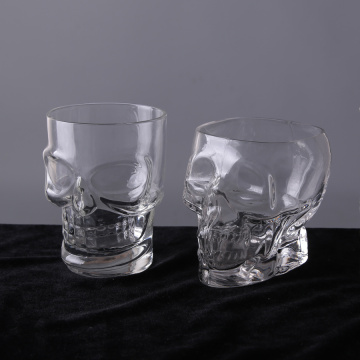 Heavy Base Skull Face Shot Glasset