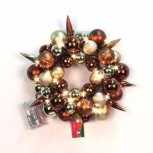 Pre-lit Special Christmas Ball Theme Wreath