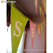 Wholesale joyeux anniversaire fabirc bannière pour la décoration