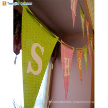 Wholesale happy birthday fabirc banner for decoration