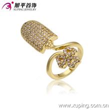 13303 Женская мода роскошь 14 к позолоченные имитация ювелирных изделий палец кольцо медный сплав