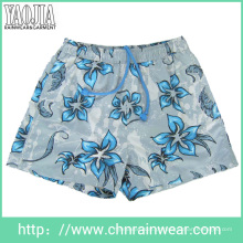 Men's Printed Flower Beach Calças / Casual Shorts Pant