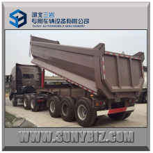 3 Achsen U Shaped Dump Semi Trailer