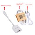 Adaptador de cable de audio Mini HDMI a VGA + 3.5 mm
