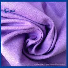 Tissu en daim en microfibre couleur pourpre (QHDA32657)