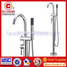 chrome plated brass freestanding bathtubs shower faucet,bathroom bath shower plumbing mixers