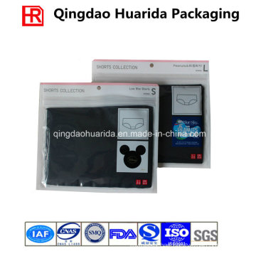 Transparent Plastic Garment Ziplock Bag with Custom Logo