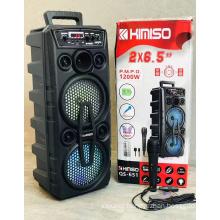 QS-651 6.5*2 Inch Speaker Outdoor Portable Trolley Speaker DJ Speaker System Subwoofer Sound Box With LED Light KIMISO