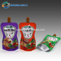 Pochette à sauce liquide Pochette d'emballage à bec liquide
