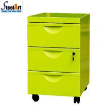 Высокое качество офисной мебелью подвижный 3 ящик для хранения картотеки