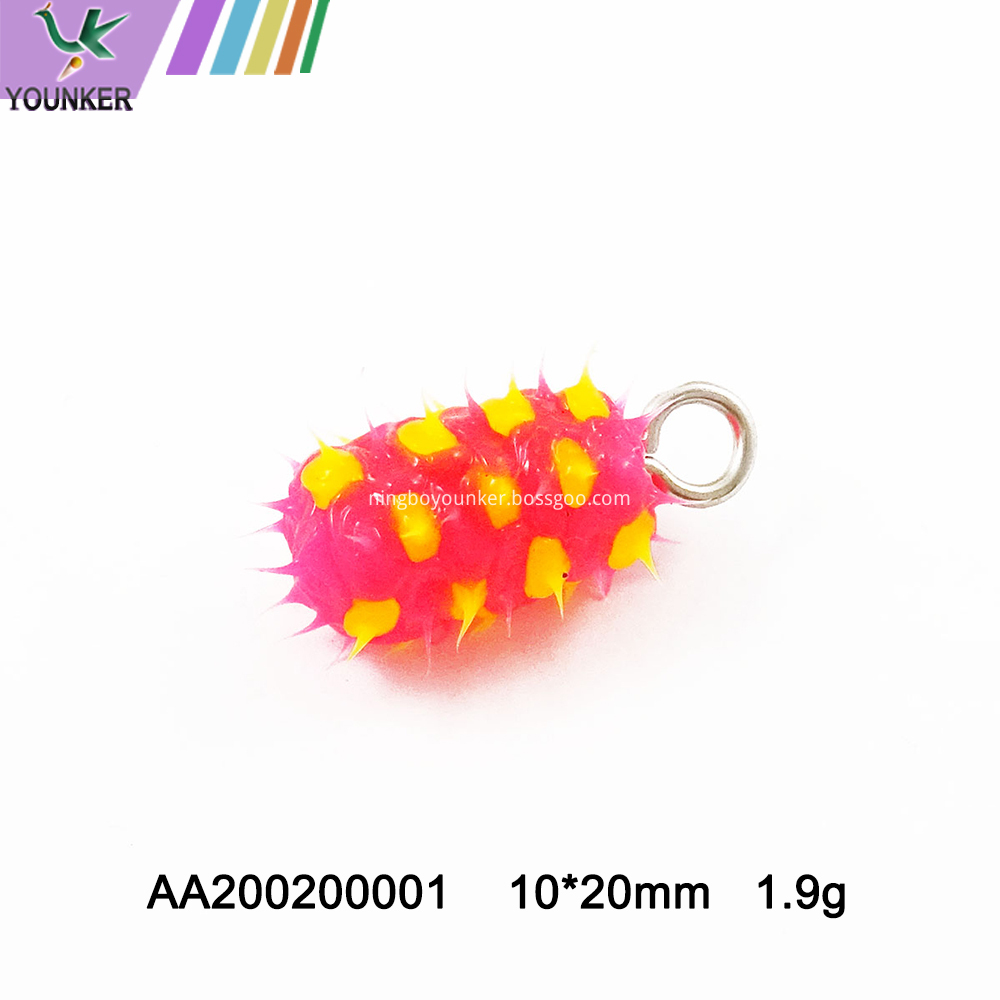 Hot Sale Pineapple Shape Soft Rubber Spike Pendant