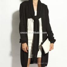 16STC8079 cardigan long en cachemire en tricot de laine