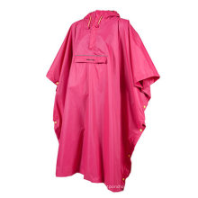 Frauen Polyester Regen Poncho mit Tasche