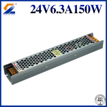 Triac 0-10V PWM Regulable LED Driver 24V 6.25A 150W