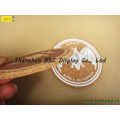 Оптовая продажа чистого пробки с шелковой печати логотип круглый Каботажное судно Пробочки с SGS (B и C-G102)