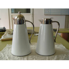 Painted Glass Liner Stainless Steel Shell Coffee Pot