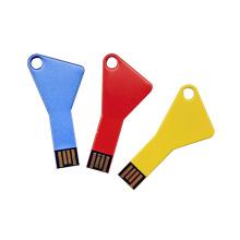 Forma llave barato Promocional Logotipo personalizado colorido USB Pendrive Flash