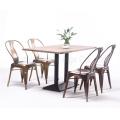 Gold Copper Color Industrial Metal Cafe Restaurant Furniture (SP-CT679)