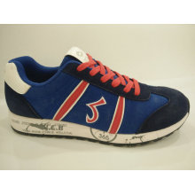 Men′s Retro Blue Casual Sport Shoes Footwear