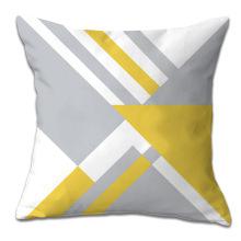 Almofada de fronha de almofada de padrão geométrico amarelo para carro