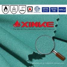 Tecido retardador de chamas 100 algodão para vestuário de proteção