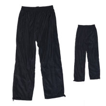 Yj-3005 Lined Mens Black Microfiber Sports Pants Sweatpants