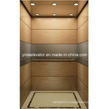 Высококачественный пассажирский лифт с матовой нержавеющей сталью