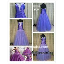 2011 nuevo dos tonos de tafetán señoras de moda púrpura real vestido de fiesta vestido de noche HH0986