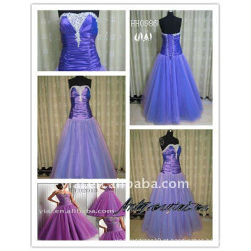 2011 novas senhoras de tafetá de dois tons moda real vestido de baile de formatura vestido de noiva HH0986