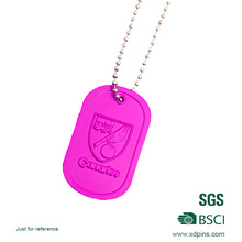 Promotion Coloful Dog Tag with Ball Chain