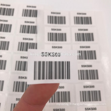 Factory Direct Sale jewelry Barcode Label & stickers Customized