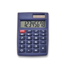 Hot Selling 8 Digits Dual Power mini calculadora de bolsillo