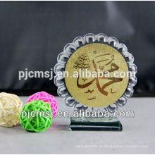 Cristal con láser islámico musulmán regalos religiosos anhelo de oro