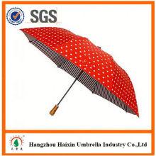 Günstigen Preisen!! Fabrik Supply Männer Falten Regenschirm mit krummen behandeln
